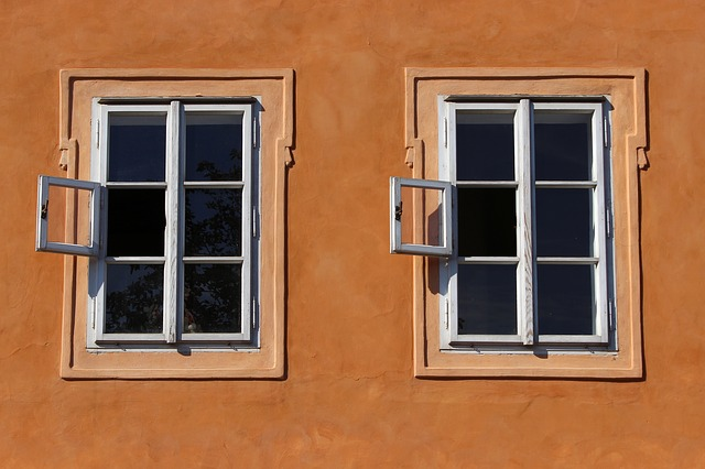 חלונות של בית בפראג