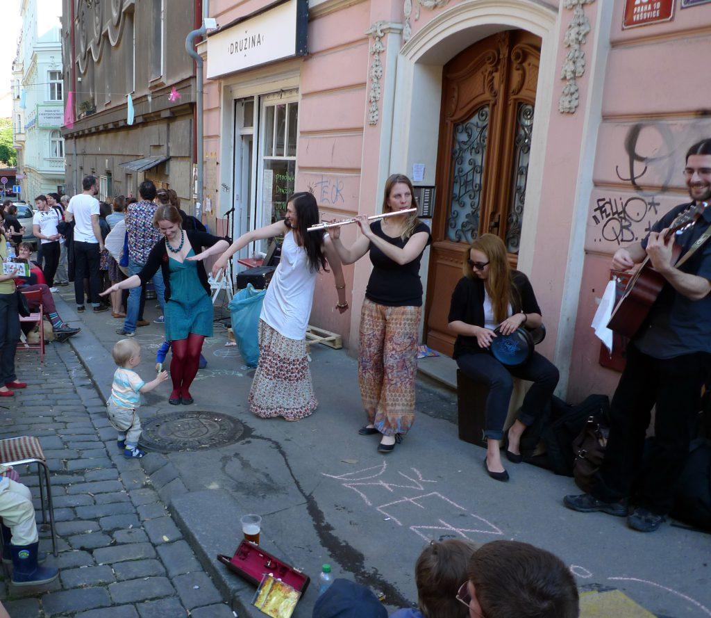 רחוב Krymská המשודרג
