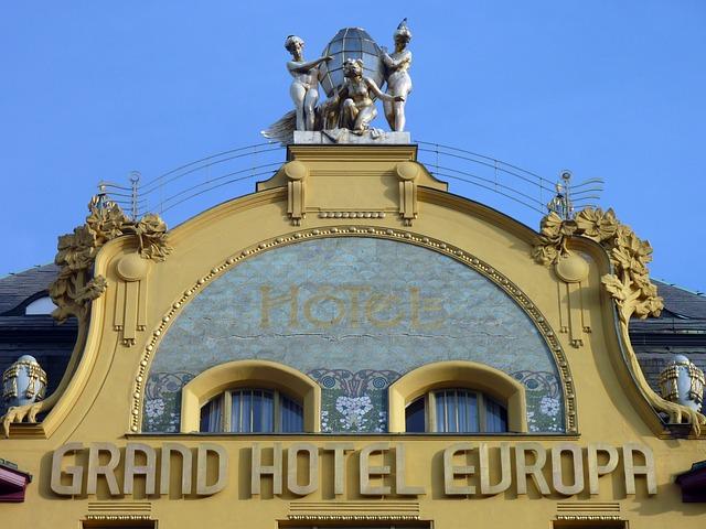 חזית מלון Grandhotel Evropa בפראג